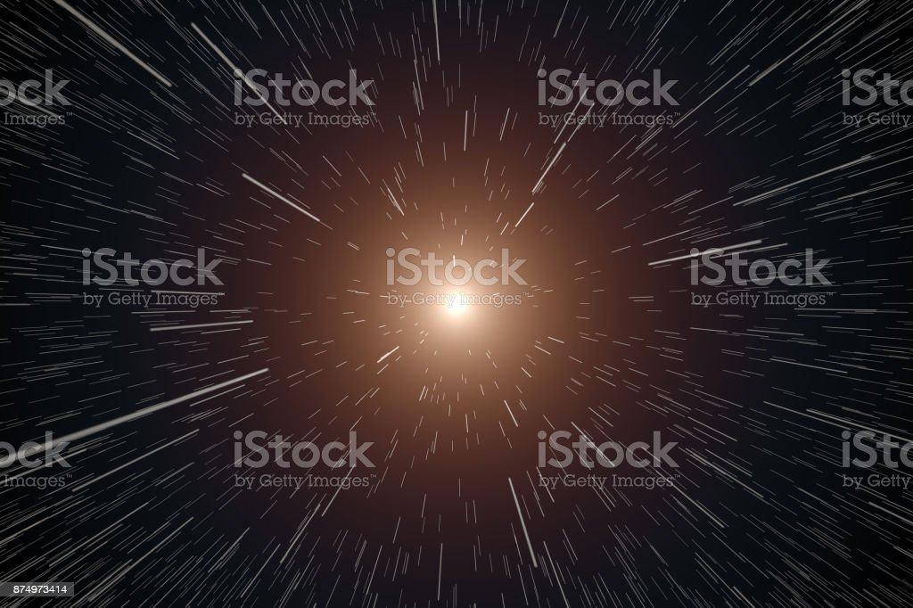 Stars moving in Space stock photo