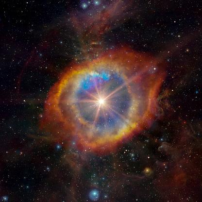 Stars nebula, colorfull explosive in spaceStars nebula in space