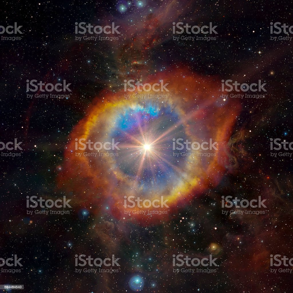 Stars nebula in space stock photo