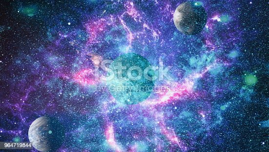 Stars Of A Planet And Galaxy In A Free Space Elements Of This Image Furnished By Nasa Stock Photo & More Pictures of Andromeda