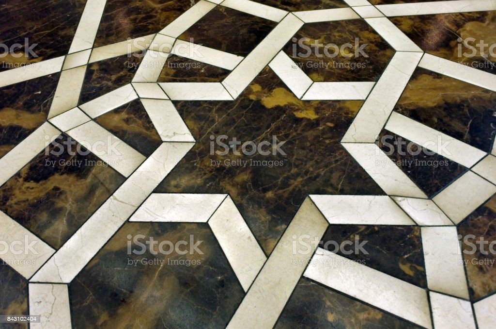 Stars of David symbol on a floor stock photo