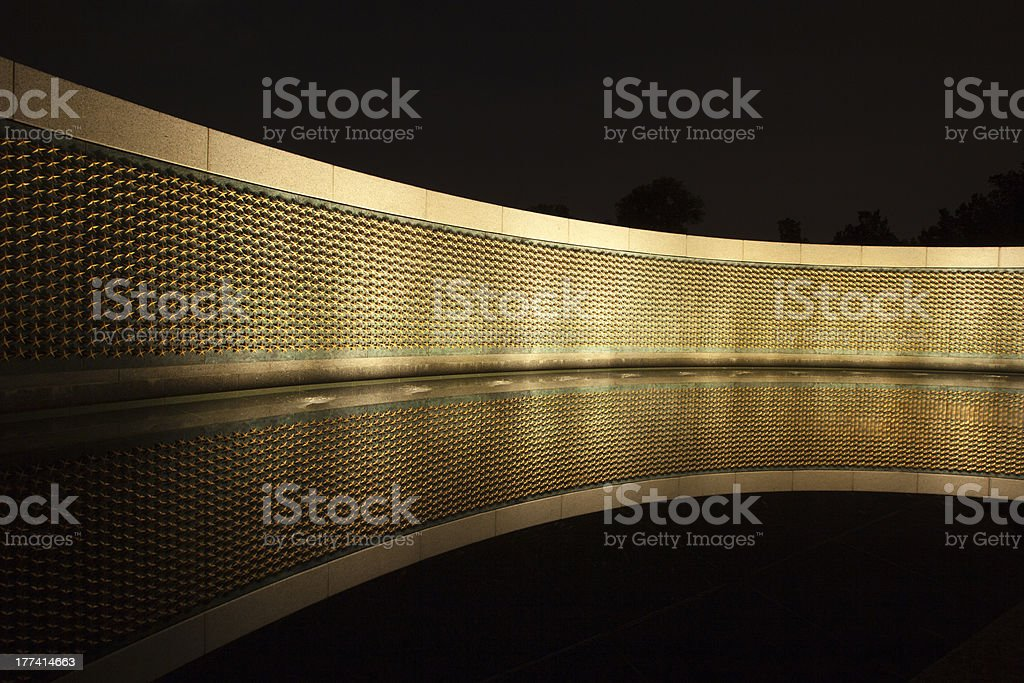 Stars of Freedom at World War 2 Memorial in Washington stock photo