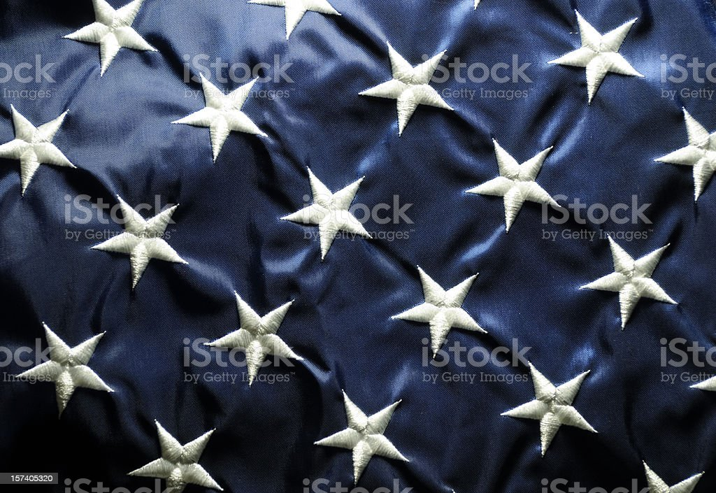 Stars of the American Flag Very Close Up royalty-free stock photo