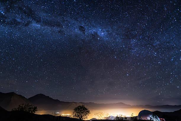 Stars of Vicuna, Chile stock photo