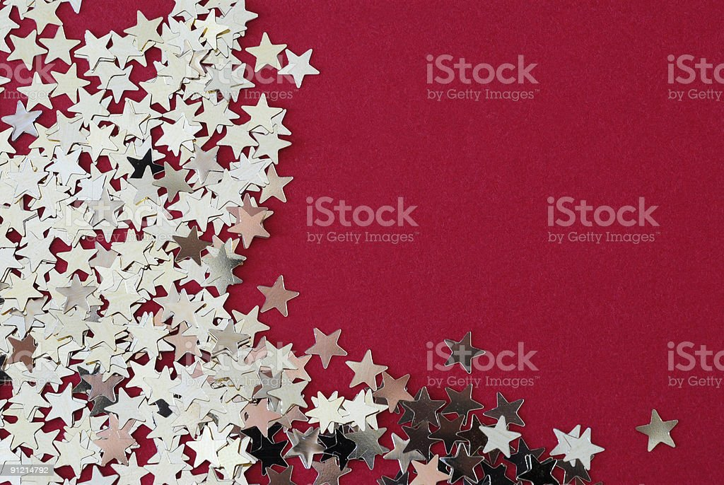 Stars on red cloth board royalty-free stock photo