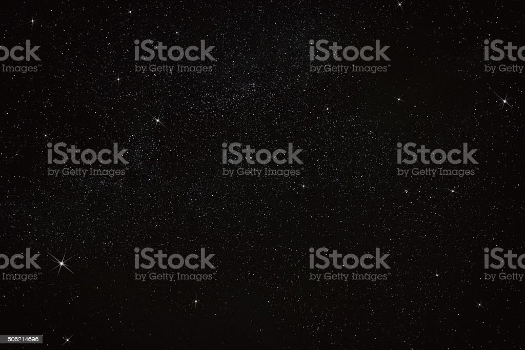 stars on the black sky stock photo