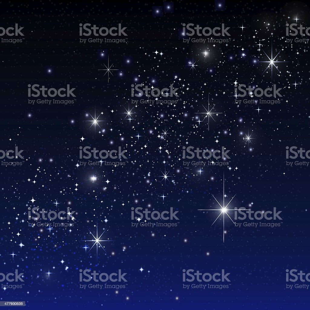 stars on the dark stock photo