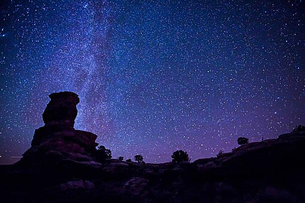 Stars Over Canyonlands National Park stock photo