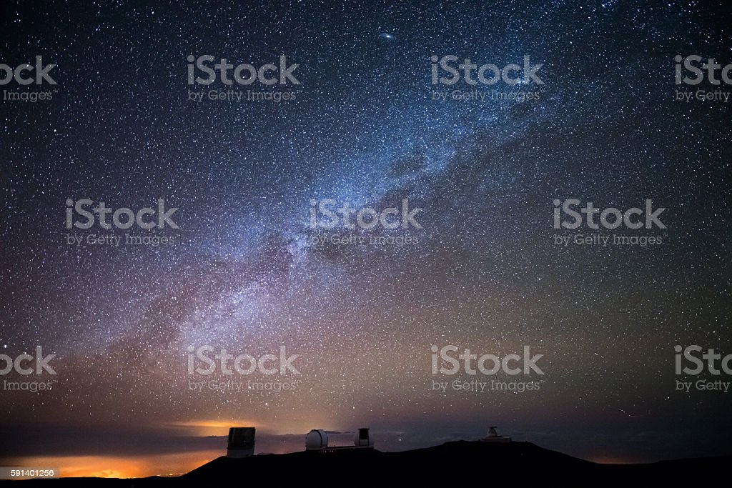 Stars over Hawaii stock photo