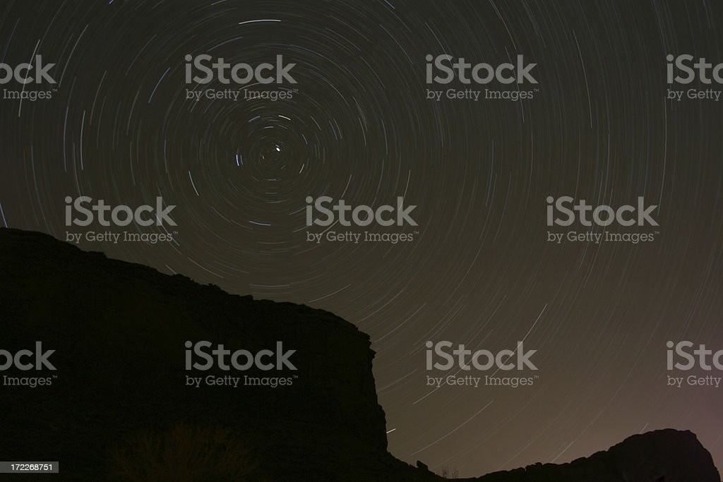 stars over Moab royalty-free stock photo