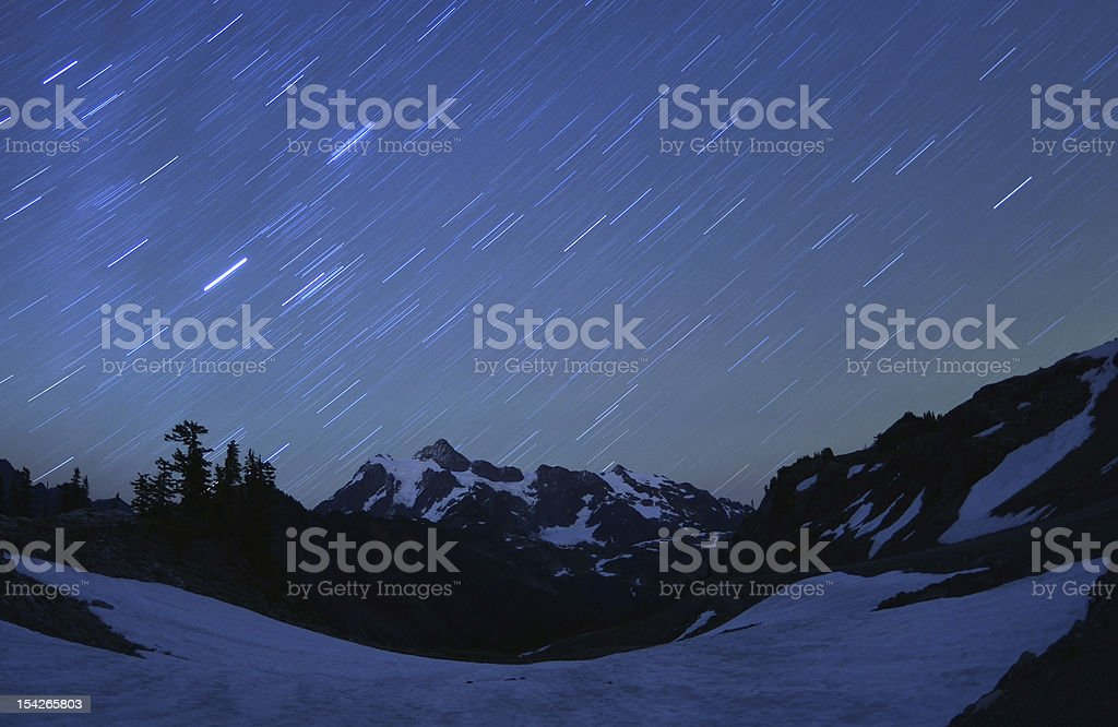 Stars over Mt Shuksan royalty-free stock photo