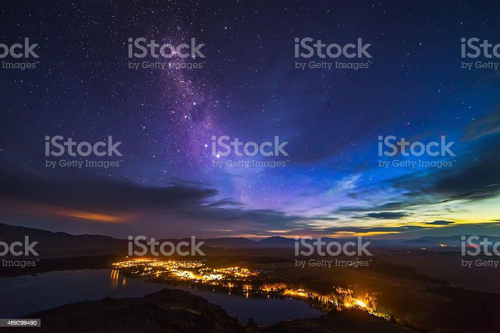 Stars over Tekapo stock photo