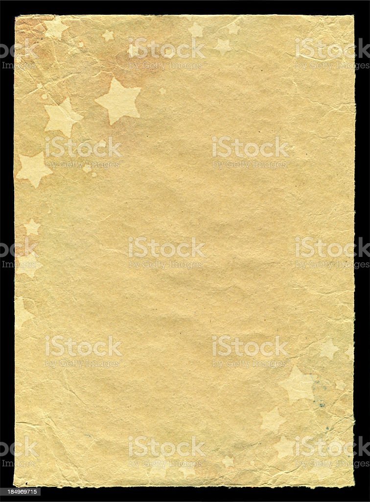 Stars pattern in paper background textured royalty-free stock photo