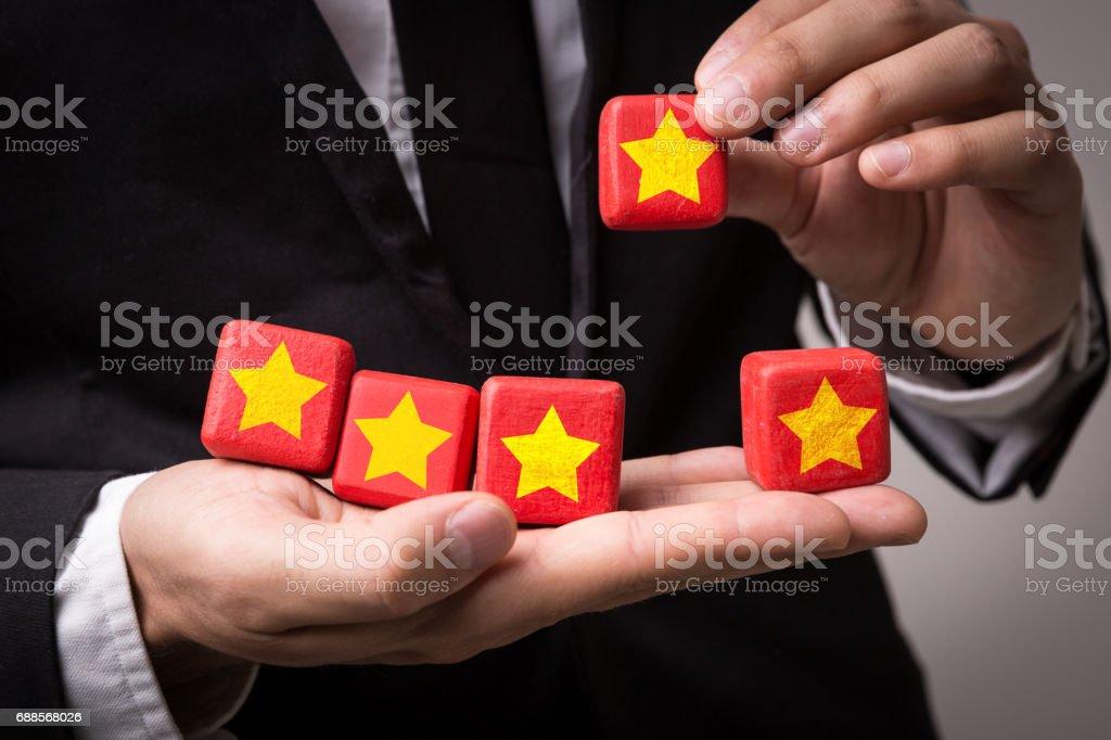 5 Stars stock photo