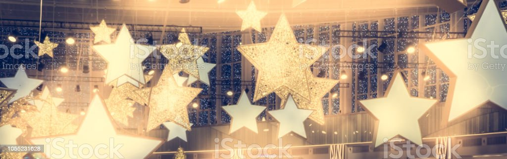 Stars shape show celebrity background  with spotlights soffits   vintage yellow golden colors as stage performance background royalty-free stock photo