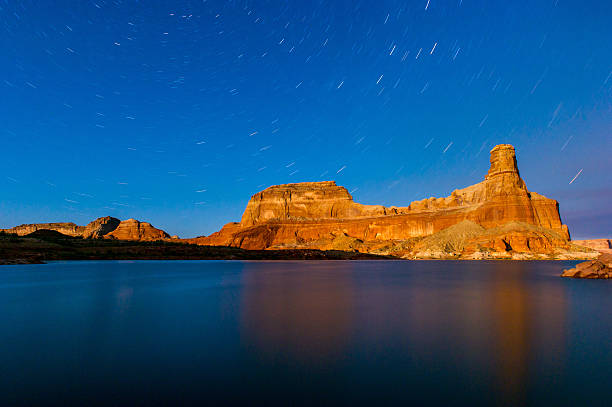Stars spin over powell stock photo