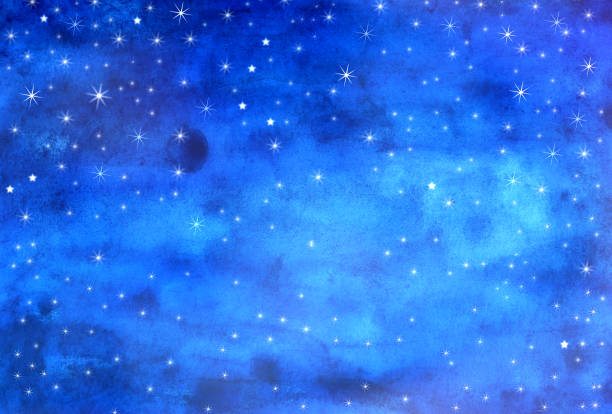 sterne, aquarell malerei - himmel bilder stock-fotos und bilder