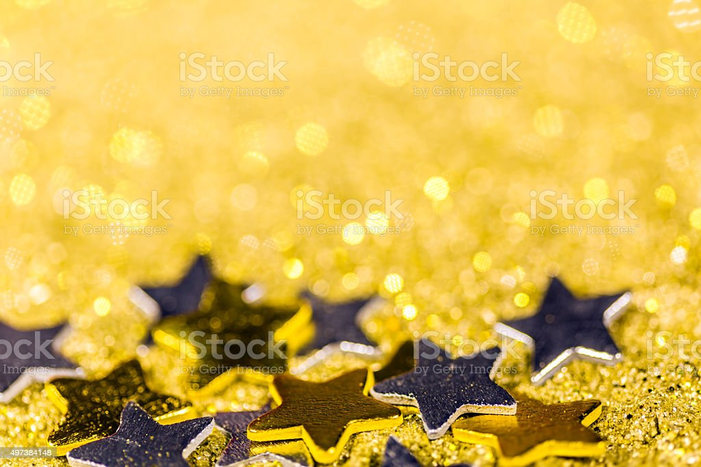Stars with abstract glitter background stock photo