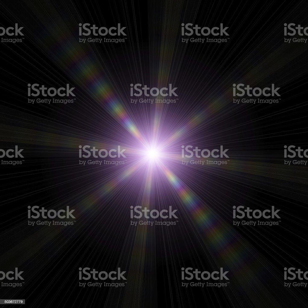Star-shape on a dark background stock photo