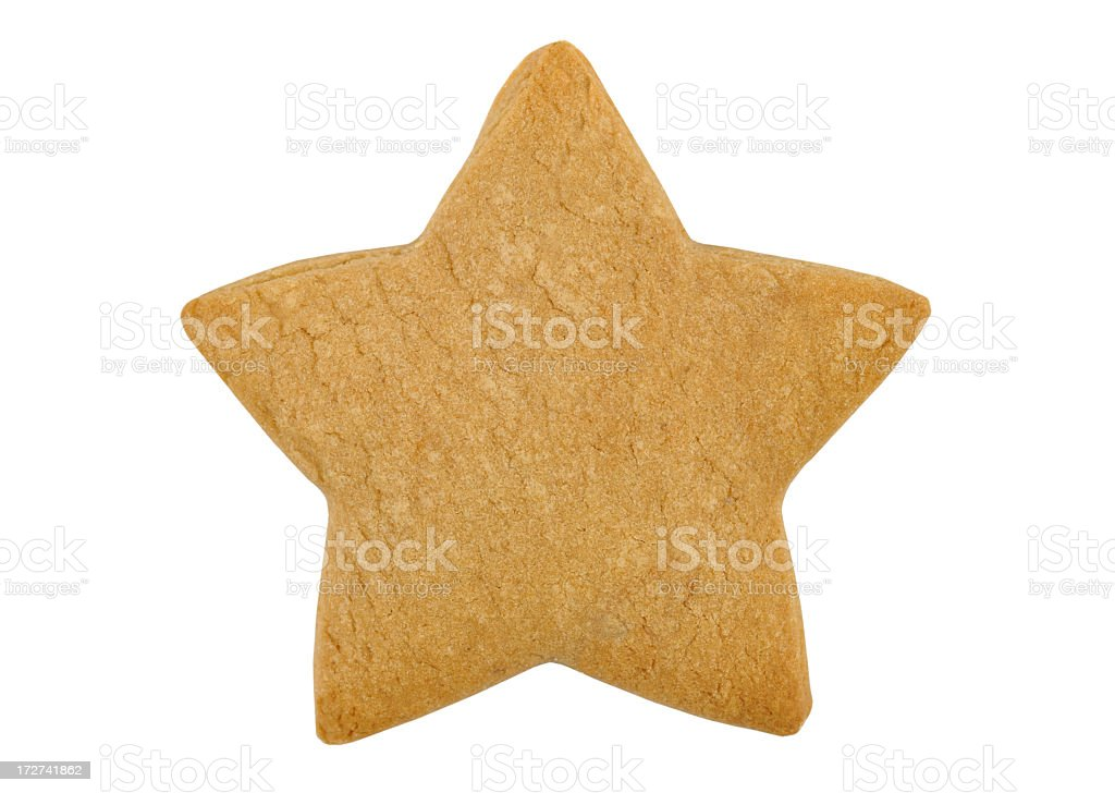 Star-shaped cookie stock photo
