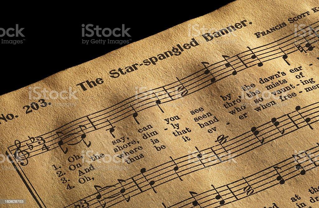 Star-Spangled Banner stock photo