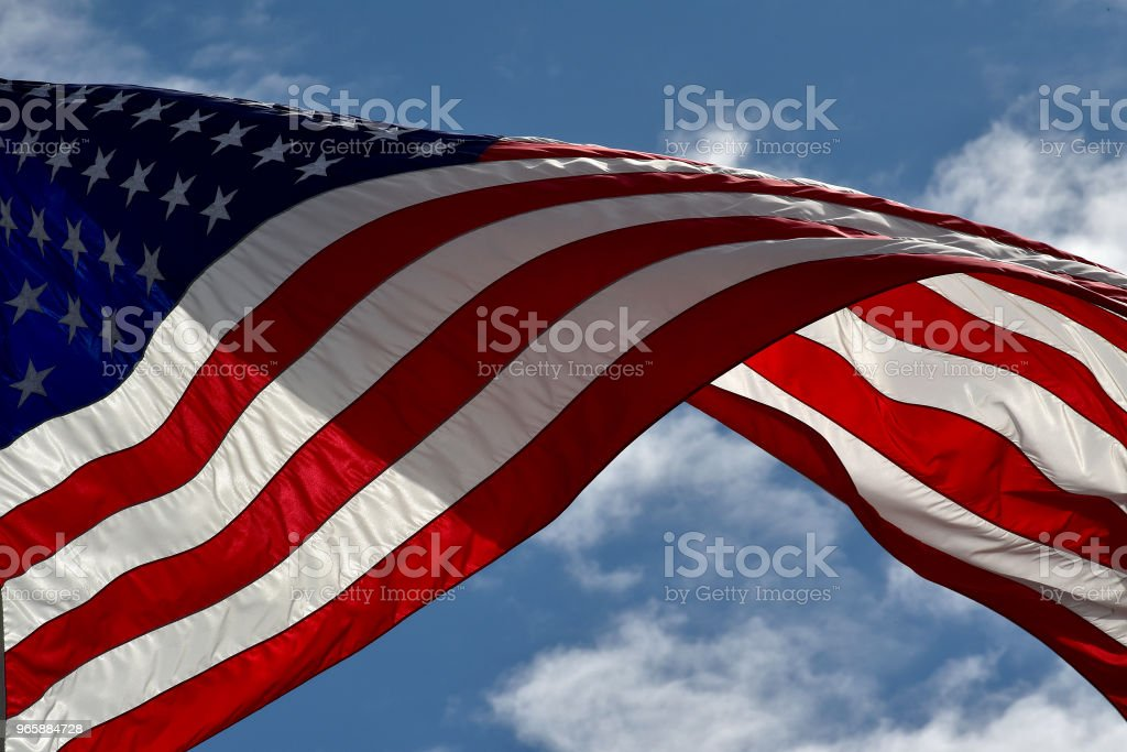 Star - Spangled Banner - Royalty-free Achtergrond - Thema Stockfoto