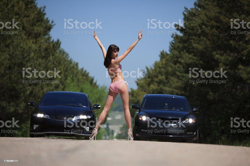 Start a car race stock photo