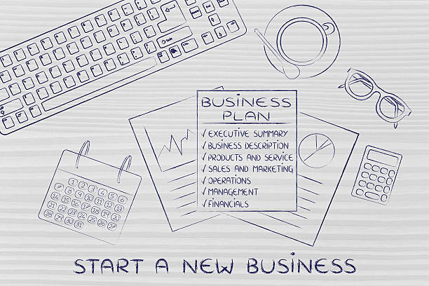 Start a new business stock photo