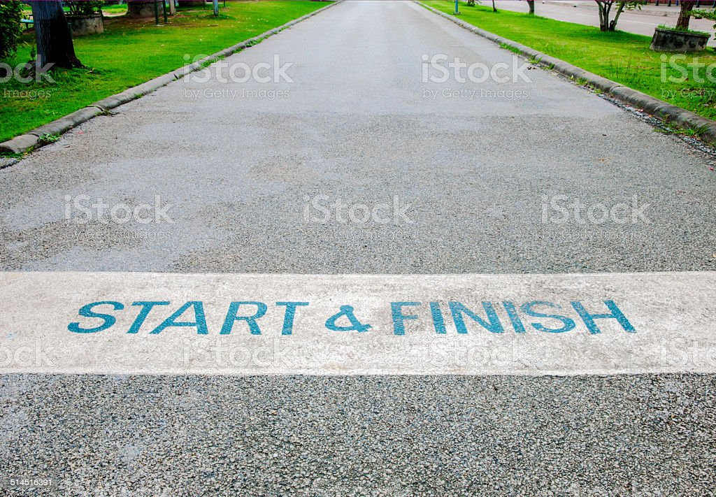 Start and Finish stock photo