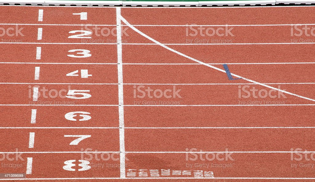Start and Finish point of race track royalty-free stock photo