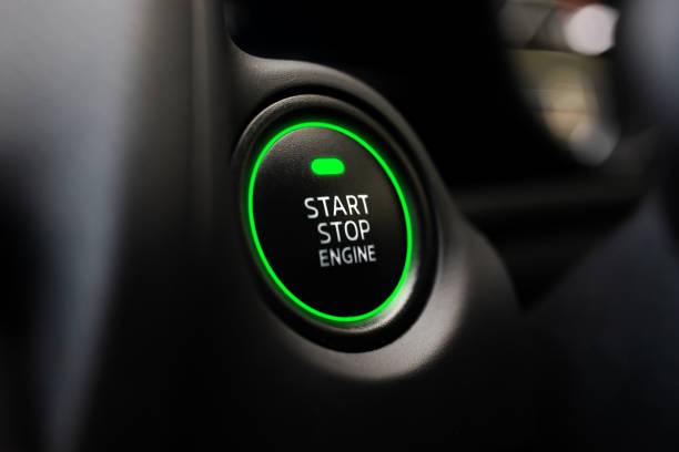 start and stop buttons - auto a combustibile alternativo foto e immagini stock