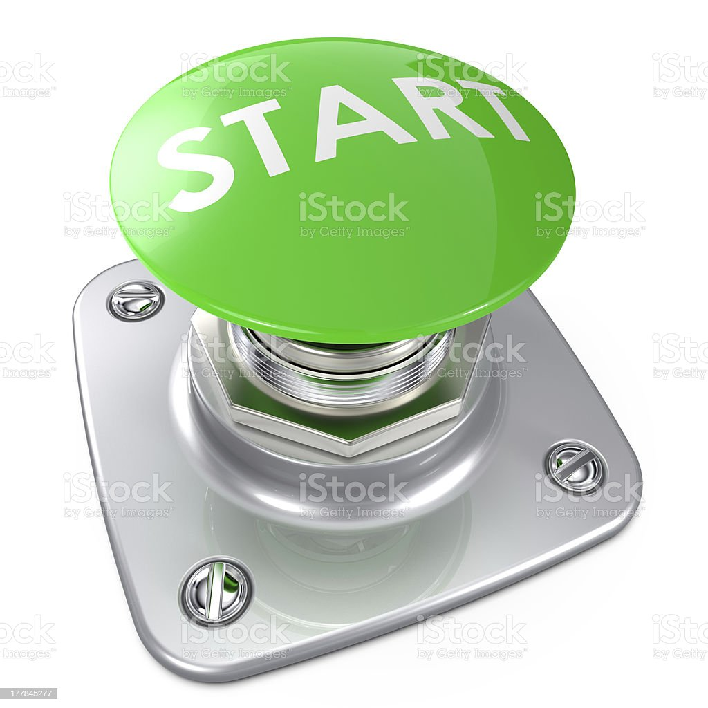 Start Button. royalty-free stock photo