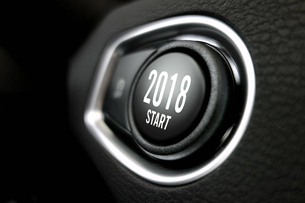 2018 start button stock photo