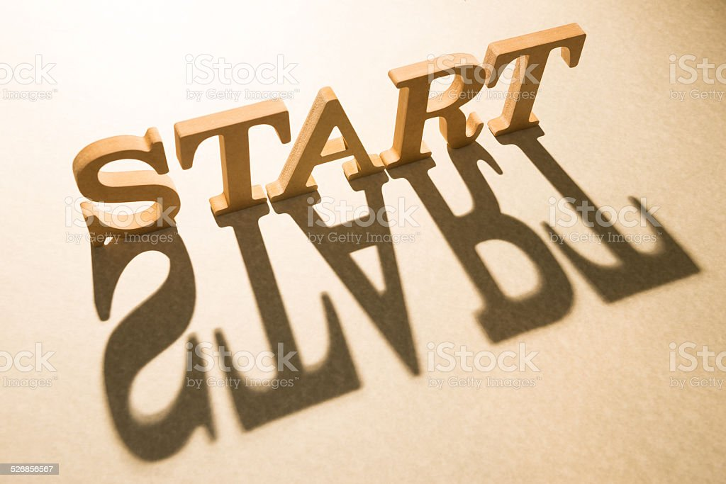 Start concept and shadow stock photo