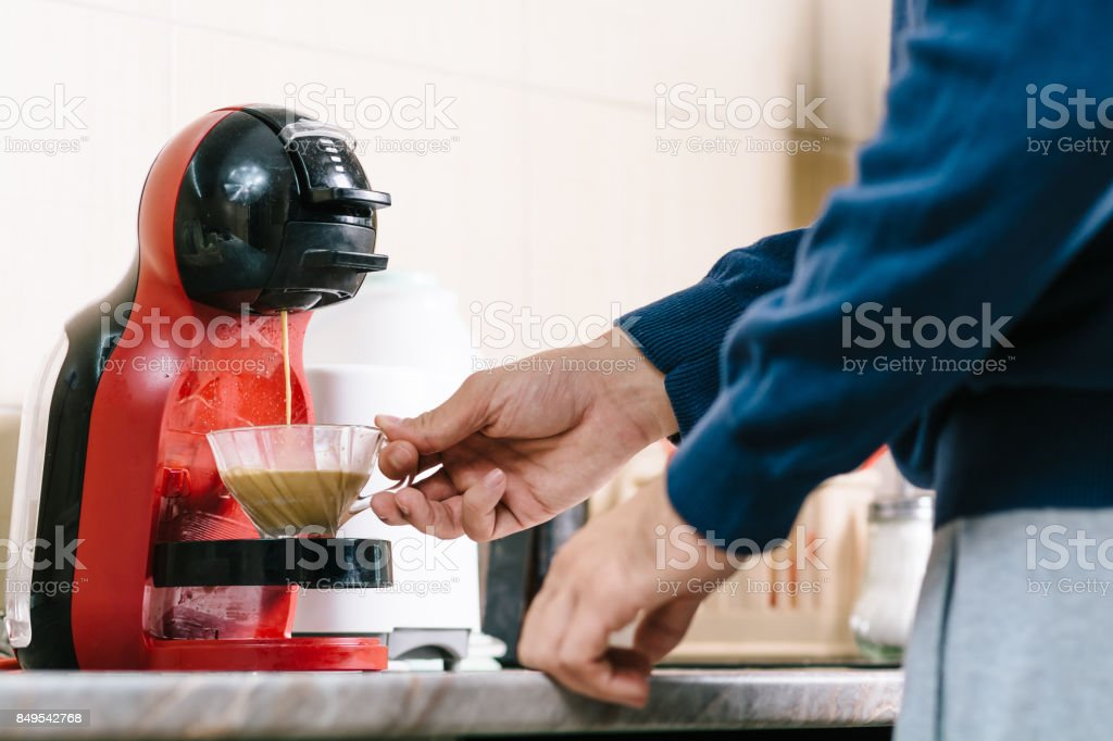 Start day with a good coffee stock photo