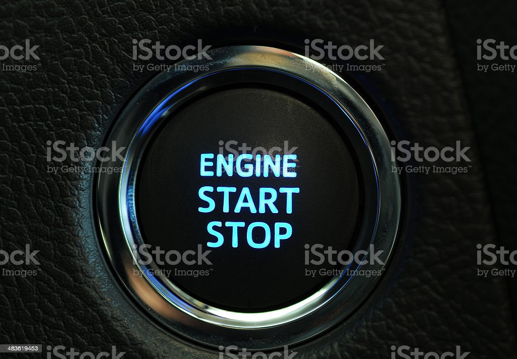 Start engine button stock photo