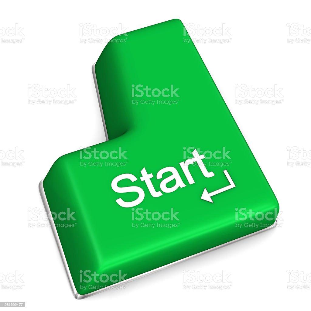 Start Enter Key stock photo
