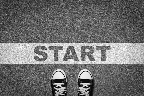 start linie freiheitsfahrt - anfang stock-fotos und bilder