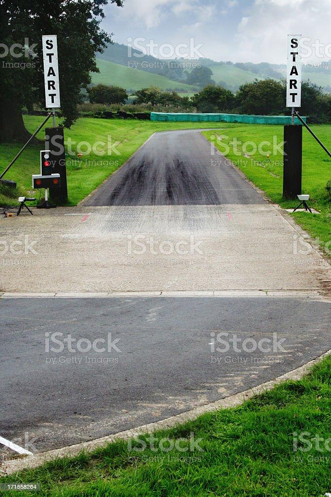 Start Line royalty-free stock photo