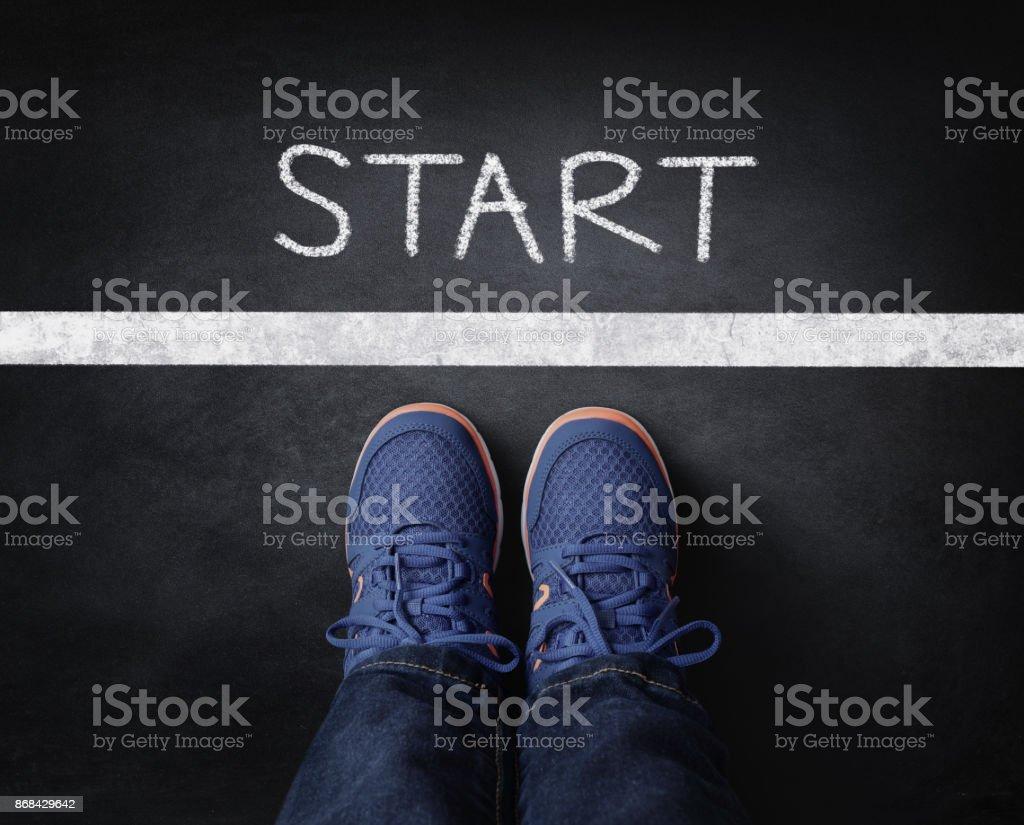 Start line stock photo