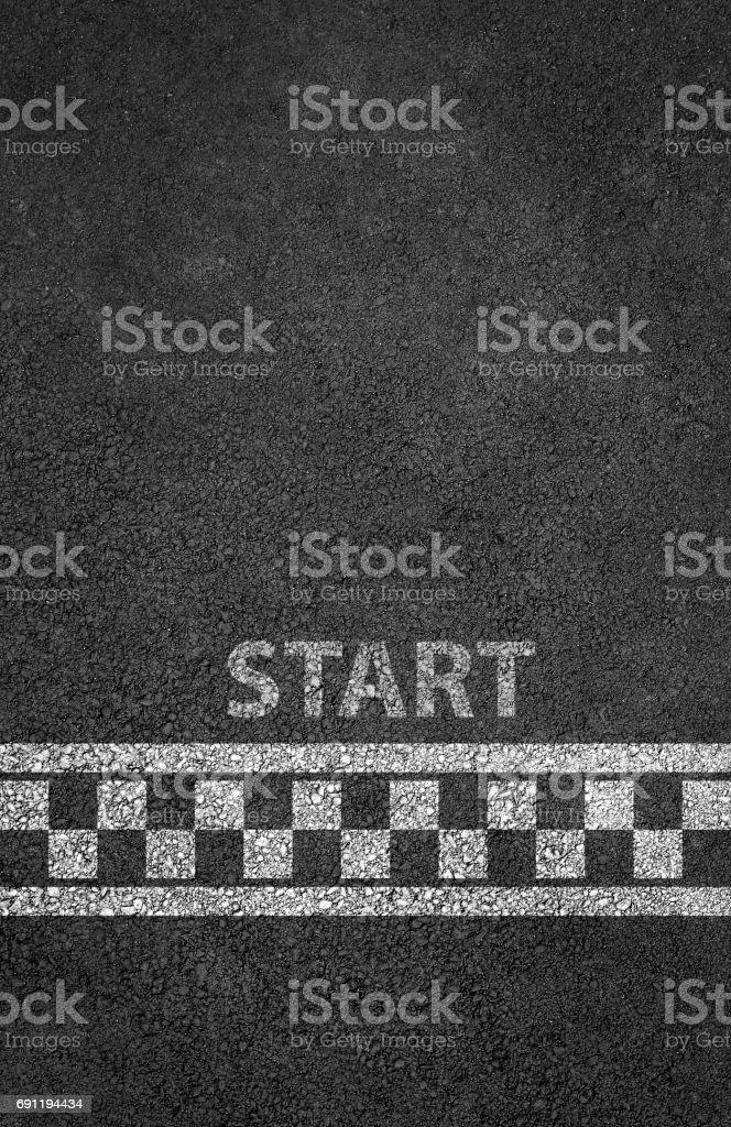 Start line racing background stock photo