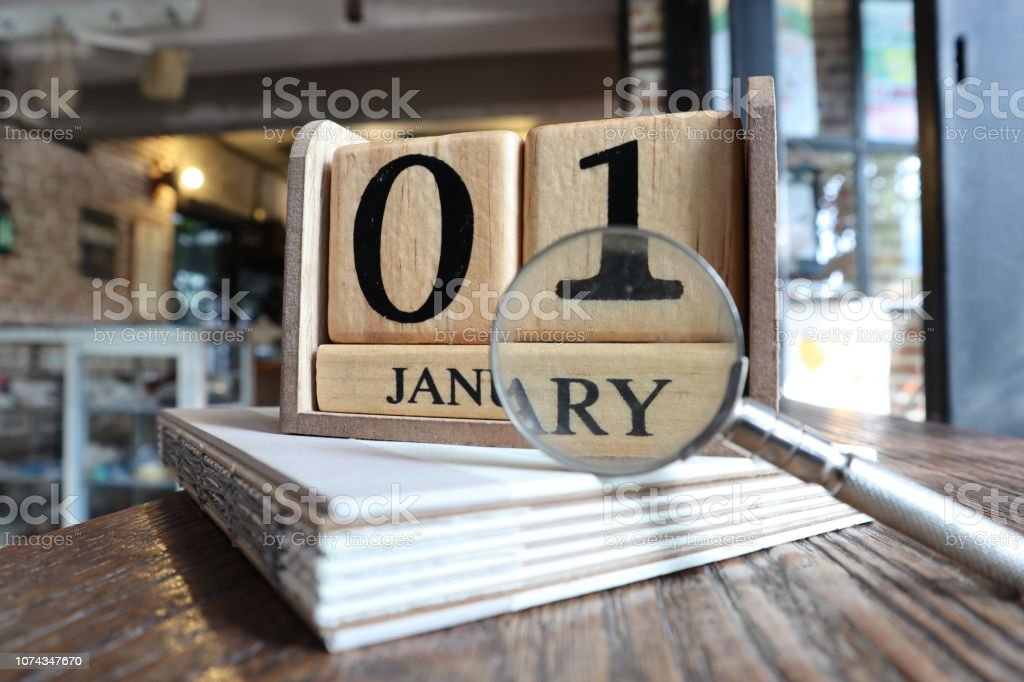 Start looking for something in the new year stock photo