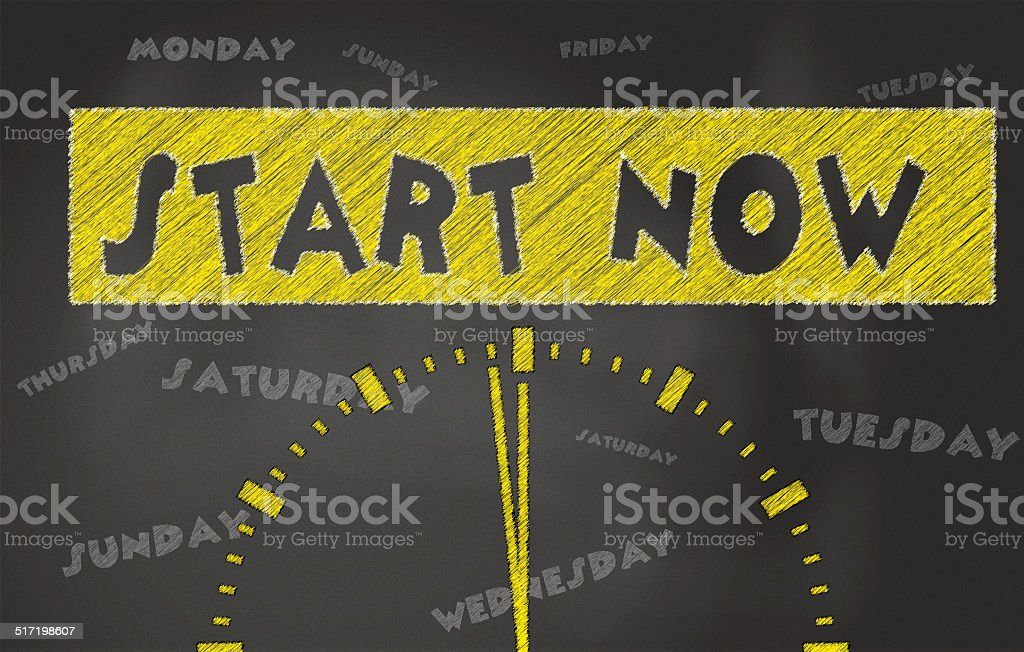 Start Now Conceptual Image stock photo