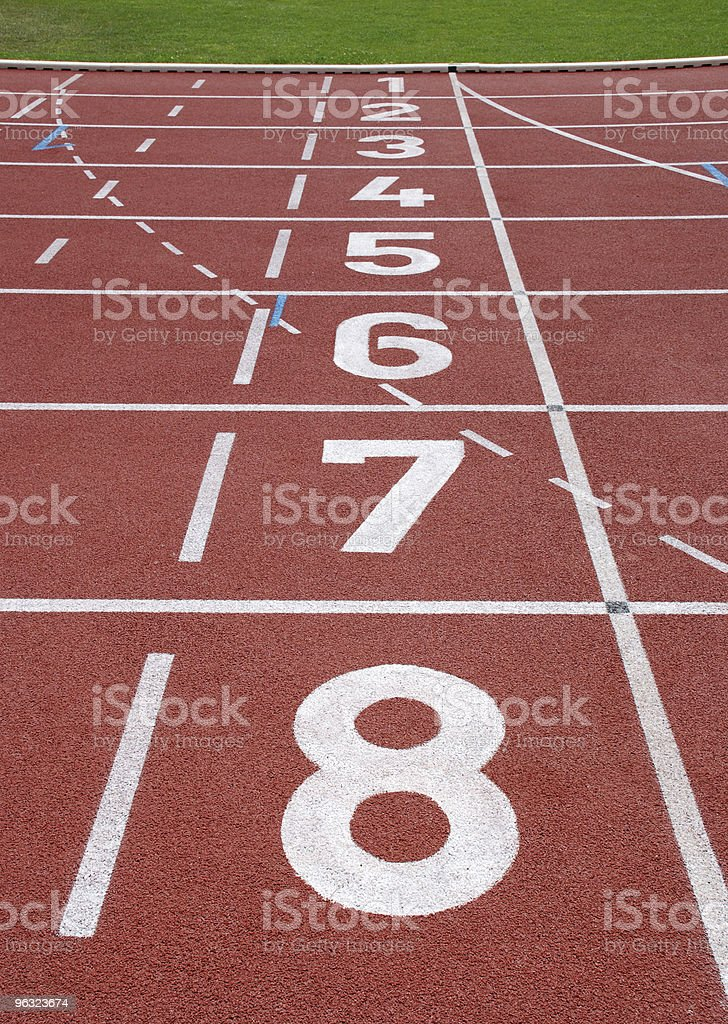 start numbers on the running track royalty-free stock photo