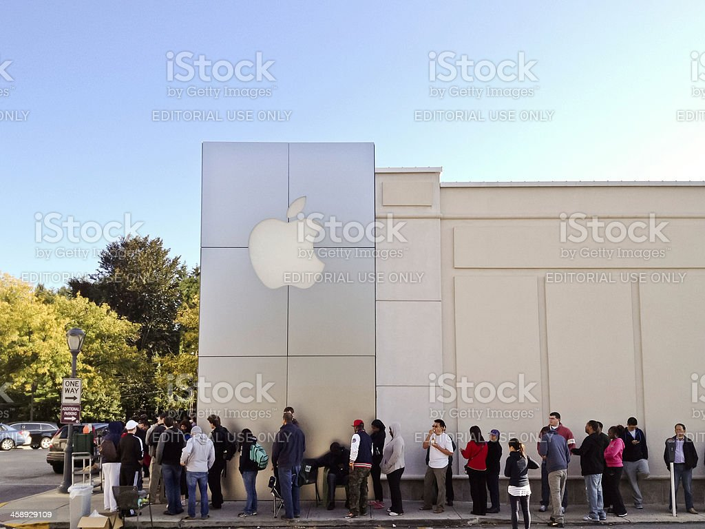Start of iPhone 5 sale stock photo