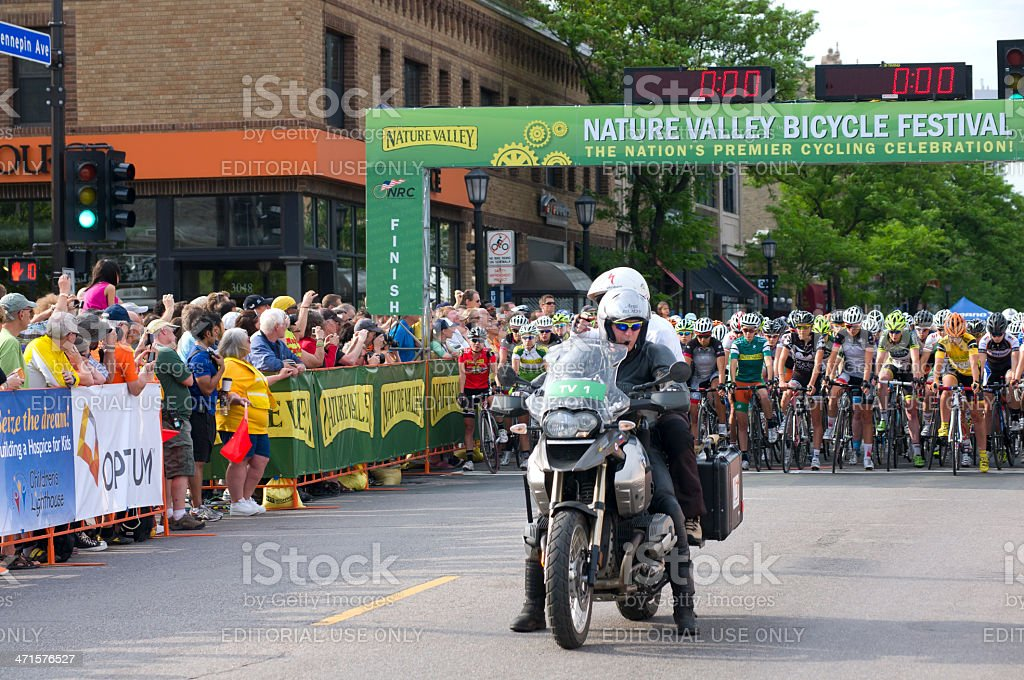 Start of Womens Uptown Criterium royalty-free stock photo