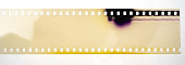 blank and empty 35mm movie or film strip