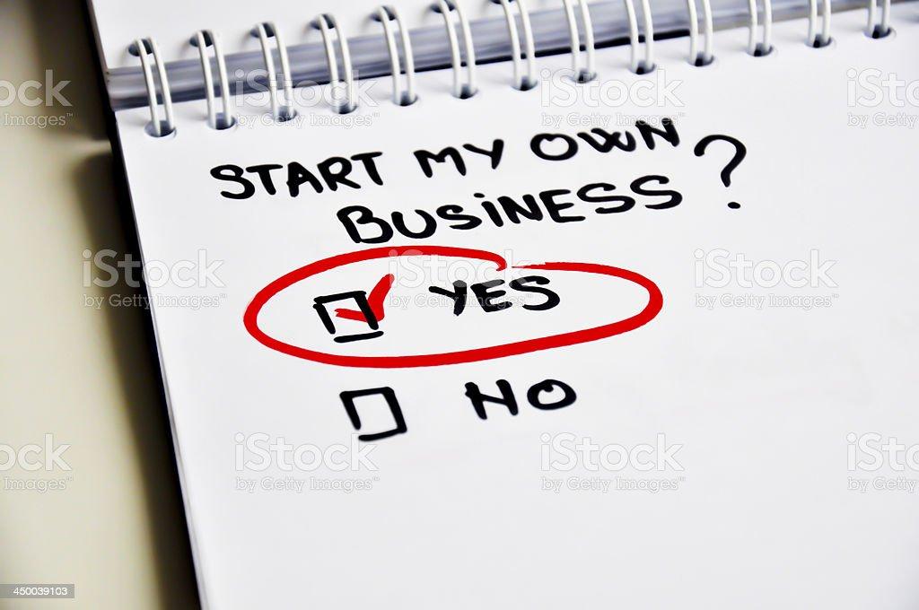 Start own business stock photo