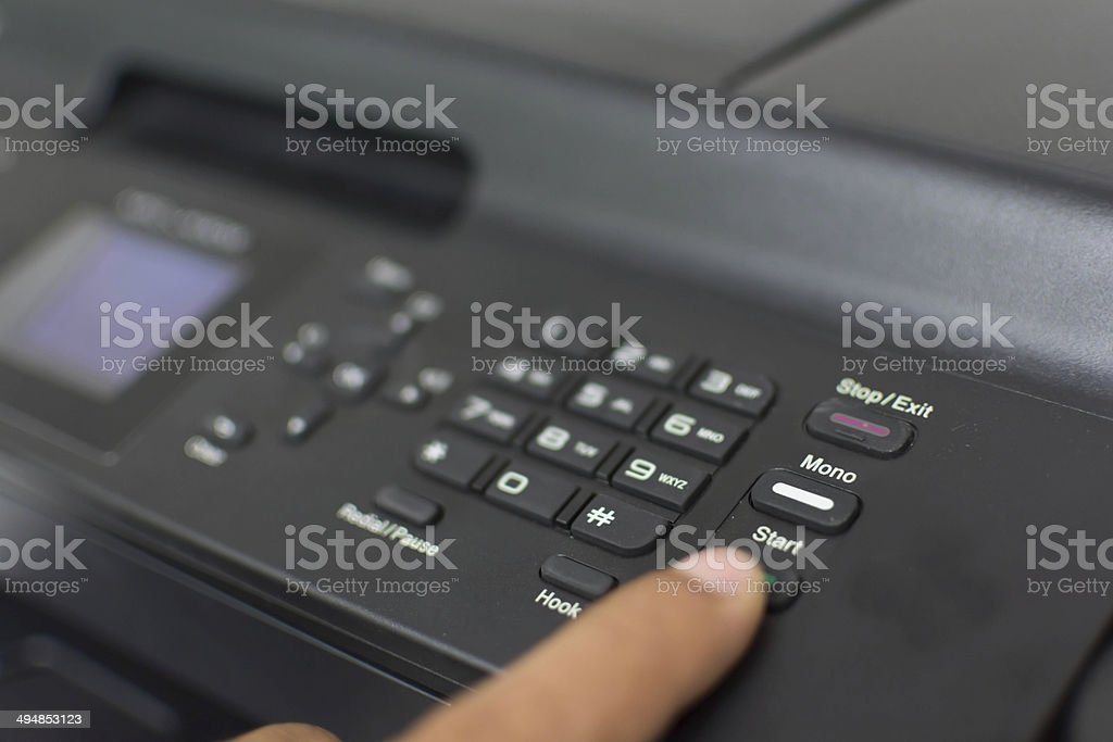 start printer stock photo
