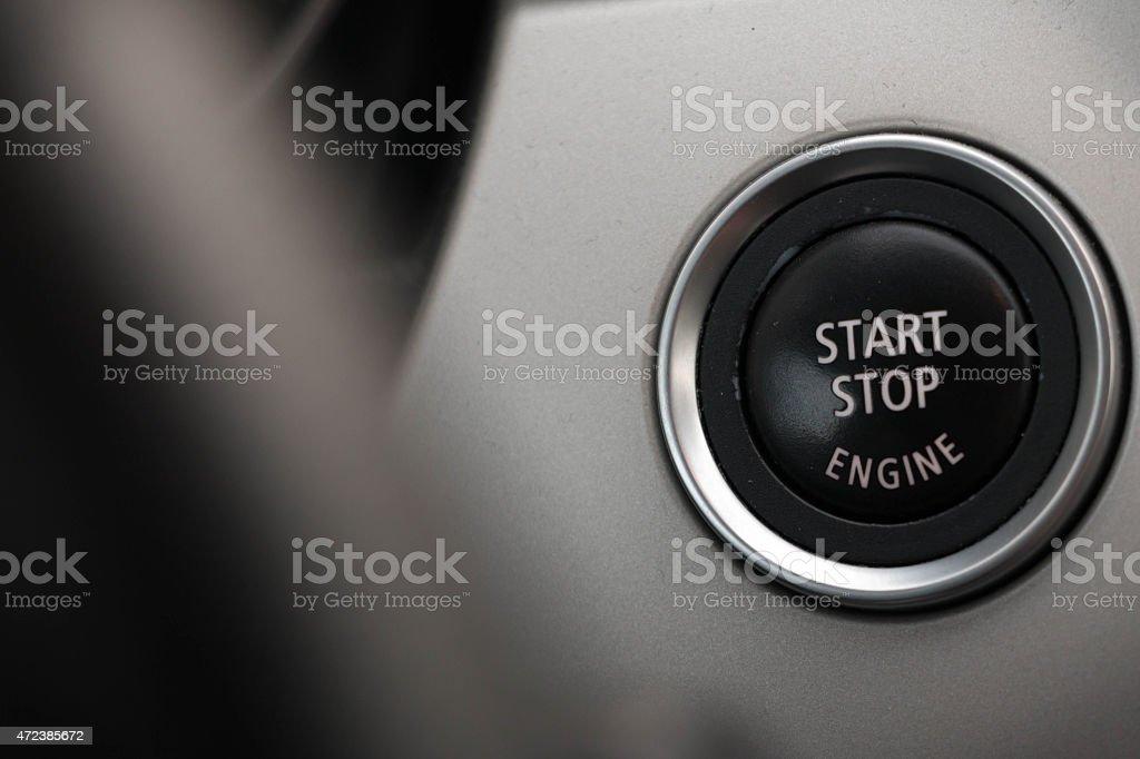 Start Stop Engine button stock photo